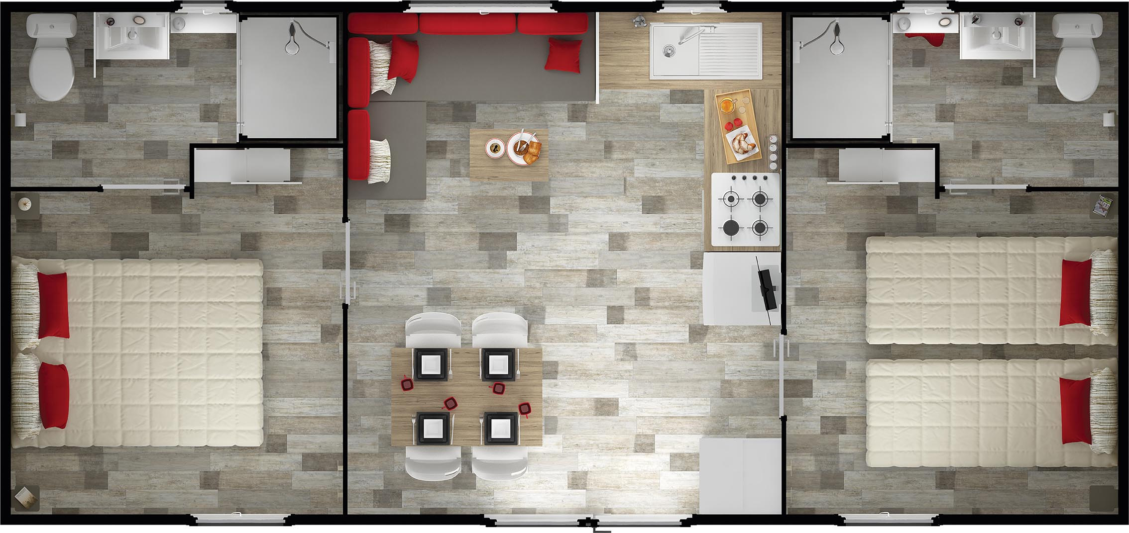 IMAGES CREATIONS - Rideau Mobil Home - Nirvana duo espace plan copie